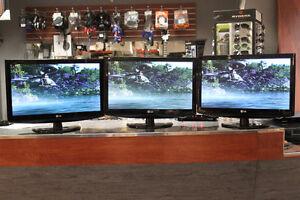 Téléviseur Sharp et LG pouvant aussi servir de moniteur!