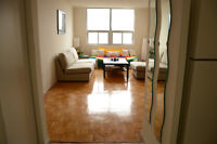 Large 2 BDR + 1.5 Bathroom, beautiful view, heart of downtown