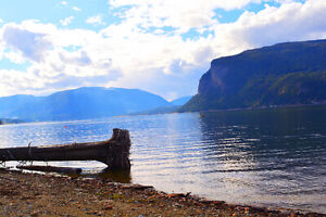 Beautiful Shuswap Vacation Rental on Acreage with Private Beach
