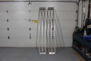 arched alum. loading ramps.
