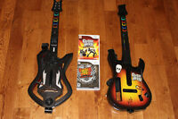 2 Guitar Hero games comes with 2 guitars for Nintendo Wii