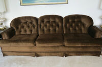 Large sofa and matching chair