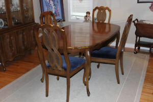 formal dining set and hutch