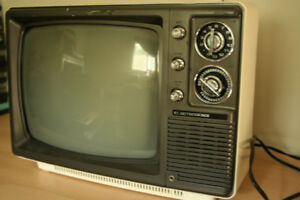 Vintage Electrohome Black and White TV