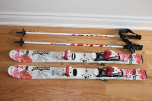 Girls Rossignol Ski (95 CM) with bindings and Poles