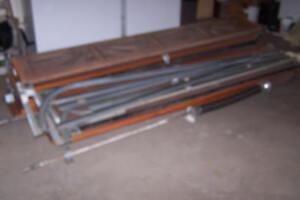 Two cedar garage doors