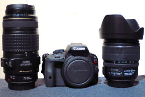 Canon SL1 with 2 zoom lenses