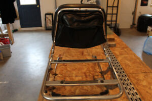 Motorcycle seat back and cargo rack