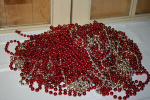 Christmas Garland- Tinsel, wooden & plastic beads-See photos Belleville Belleville Area image 8