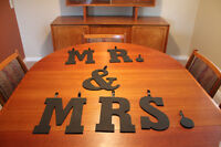 Mr and Mrs wooden letters and more