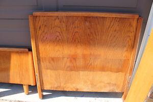 Child's Single Oak Bed - $120