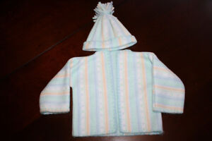 Handmade Baby Hat and Sweater - 0-3 Months