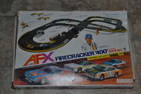 1977 AFX Aurora Fire Cracker 400 G-plus HO scale race car set
