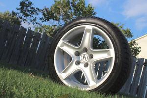 """4 Mags Acura 17"""" + Pneus Hiver"""