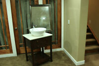 Bathroom Vanity with Faucet and Mirror