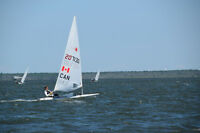 Lightly used Laser sails available