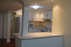 a quiet and beautiful 2 bedroom basement apartment