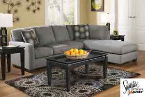 Brand new Zella Charcoal 2-Piece Sectional! Call 306-970-3822!