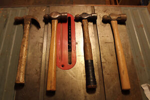 Lot of 4 x hammers ball peen and claw