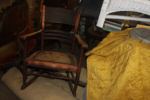 Antique Rocker ( sturdy ) great painted for patio / veranda