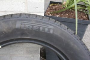 One only Pirelli Ice Control Winter Tire with less than 3000 KM