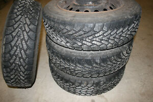 Four Goodyear Nordic Winter tires 175/65R14
