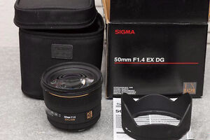 Sigma 50mm F/1.4 EX DG HSM for Canon Mint
