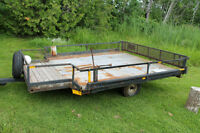 trailer 8x8 5x2 on front