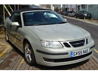 Saab 9-3 2.0 Turbo 2005 Vector Cabrio Leather Full Service History 85,000mls