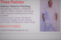 THEE PAINTER- custom home/bus interior/exterior painting