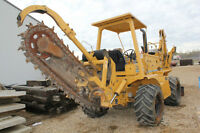 2000 Vermeer V8550A Trencher with Backhoe attachment