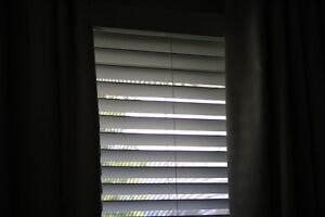 White (Faux) Horizontal Wood Blinds