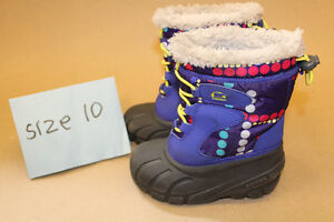 Sorel size 10 baby girl winter snow boots