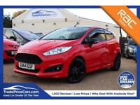 2014 64 FORD FIESTA 1.0 ZETEC S RED EDITION 3D 139 BHP