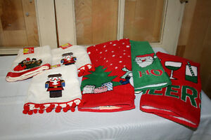 Christmas Linens and Stockings-  See photos