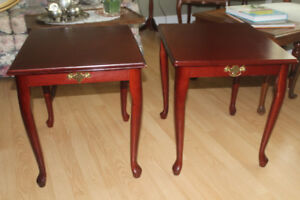 2 End Tables / Sofa Table or Desk & Chair