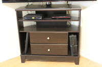 Like New Espresso TV Stand - Strong Enough for Large TV's!