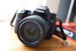 Mint condition Canon 70D 22MP DSLR + 15-85mm lens bundle