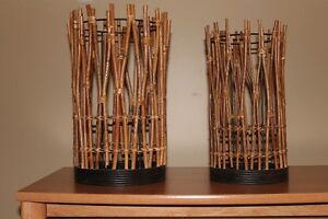 Set of two large candle holders