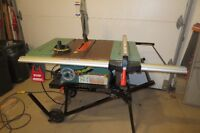 table saw with folding stand