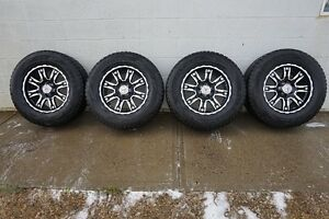 18 inch Blizzaks on Black Iron Wheels, pressure sensors included