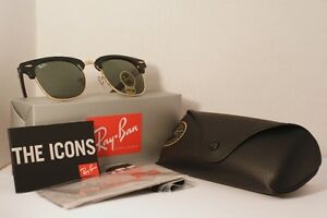 Ray Ban Clubmaster Classic - Black and Gold