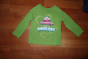 18M Big Sisters Are The Coolest Lime Green  L/S Tee