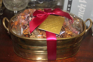 Brass Container or Plant Pot with Pot Pourri