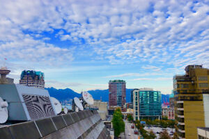 2 bedroom + den/1 bath furnished condo in Downtown Vancouver