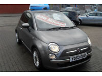 Fiat 500 1.2 ( 69bhp ) ( s/s ) LOUNGE, ONLY £30 PER YEAR ROAD TAX !!