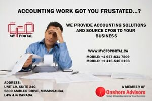Bookkeeping, Accounting, and CFO services