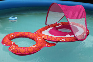 Swim float with removable canopy