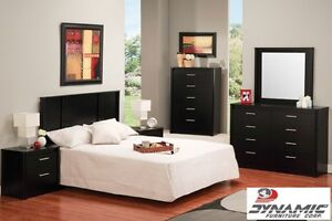 Brand NEW Midnight Black 3PC Bedroom Set  ! Call 807-346-4044