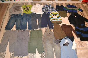 Boys 18-24 months pants & long-sleeve shirts - brand name Carter